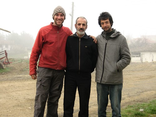 Mutlu (center) let us sleep in his house in Yenice, Turkey