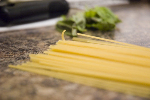 linguine and flat leaf italian parsley