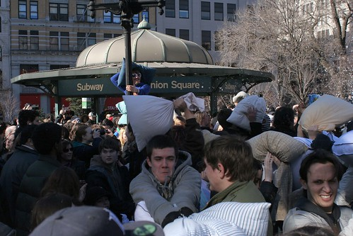 Faces - Pillow Fight NYC 2007