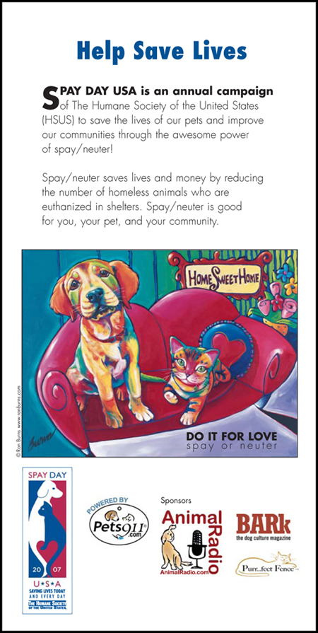 HSUS - Spay Day USA 2007 (Page 4 of Brochure)