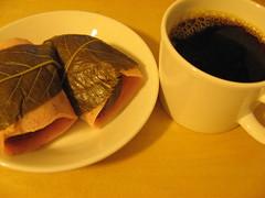 Sakura-mochi & coffee