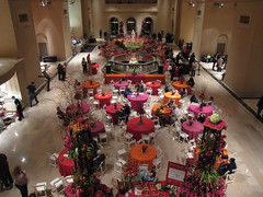 Overhead view of event at St. Louis Art Museum