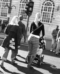 Cute Mum Bum (James W Bell (Good Honest Iago) - Leeds) Tags: people sexy public toddler leeds mother streetphotography pedestrians streetphoto unposed motherhood citycentre pram ls1 vicarlane kodakz700 peopleunposedinpublic jameswbell