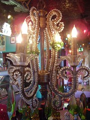 Chandelier in Front Dining Room of Monjunis