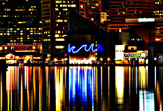 Aquarium (Aaron Webb) Tags: skyline night baltimore baltimoremd baltimoreharbor baltimoreskyline calendar07
