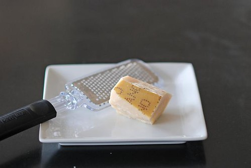 Grating parmesan by Cookthink