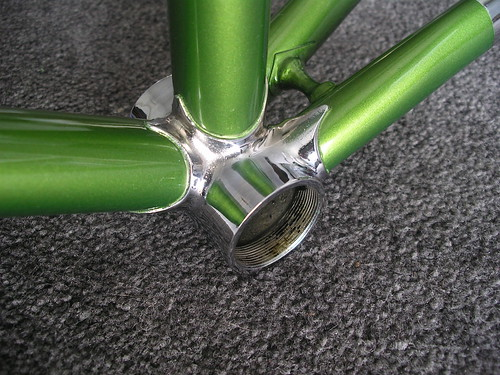 Love this contrast of green and chrome.
