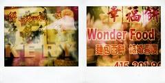 chinese food (astrocruzan) Tags: sanfrancisco california polaroid diptych chinatown doubleexposure day3 spectrapro polaroidweekspring2007 type990film