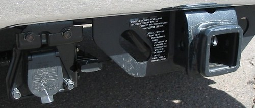 Toyota Tundra trailer tow hitch.