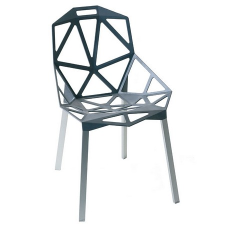 Genial I Love The Way Heu0027s Combined The Organic Eames Chair With Two Of These Very Geometric  Chairs. Itu0027s Not So Matchy Matchy.