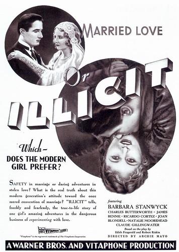 Illicit, 1931