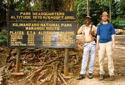Marangu Route Altitudes