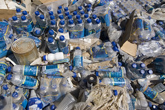 Water in the Desert (Lost America) Tags: rot desert decay bottledwater mojave foodbank fooddrive stench rottenfood helendale
