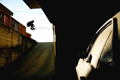 Corey Duffel - ollie (It was the light, it was the angle) Tags: silhouette digital creek canon eos interestingness skateboarding walnut ollie explore corey skate skateboard 5d skater sk8 skateboarder duffel ineeddadrink ef17mm40mm interestingness32307