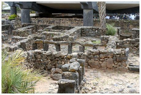 An excavated insula in Capernaum