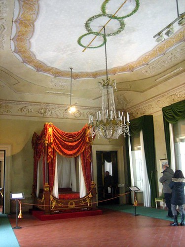 Napoleon put a bed in the ballroom.