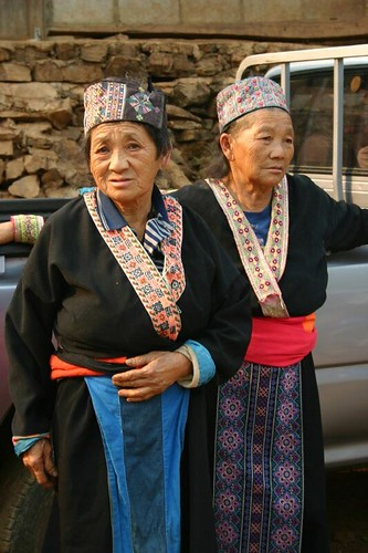 H'mong women in their trad. clothes...