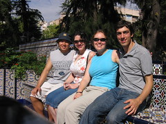 Kate, Percival, Caitlin, and Ryan in Plaza Espana