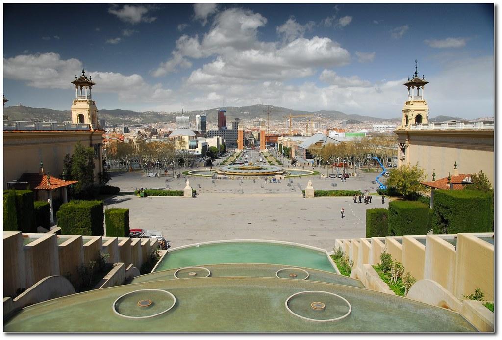 Photo de Catalogne n°8. Barcelone vue depuis Monjuic