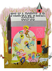 folk and popular songs (pipnstuff) Tags: illustration barn vintage children dance folk song farm nursery 1966 retro characters popular sixties rhymes maryblair myfirstsingasongbook