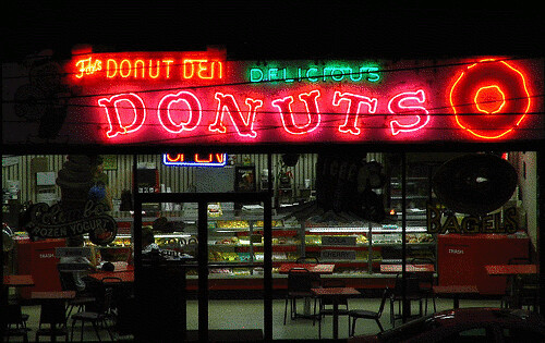 Animated Gif: Fox's Donut Den