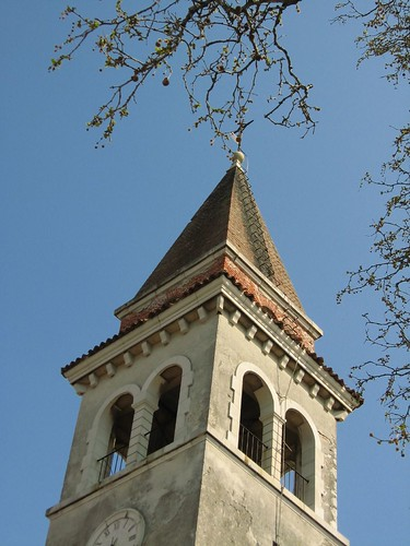 Church tower near Miran, Slovenia