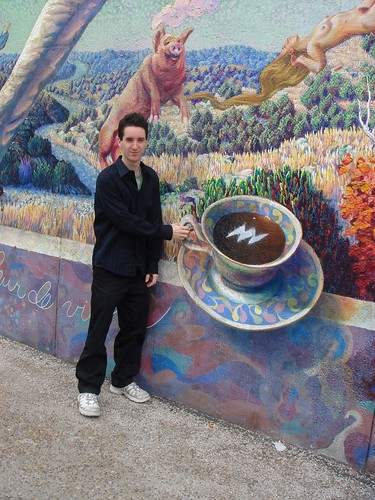 Chris and the coffee cup