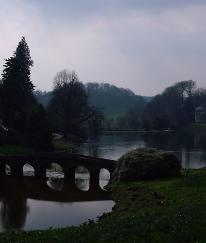 Palladian Bridge in twilight (Stourhead) - Copyright R.Weal 2006