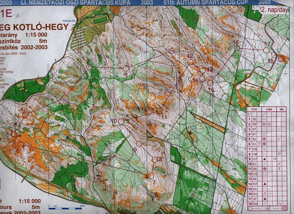 Edzés a Kotló-hegyen - Térkép