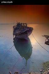 Doha Wrecks [HDR] (Hussain Shah.) Tags: sea port d50 boat nikon ship kuwait mm 1855 nikkor hdr doha الكويت flickrsbest scoremefast q8picturescom superaplus aplusphoto ميناءالدوحة