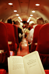 (page thirteen) Tags: airplane reading book flying alice story seats adventures wonderland minox lewiscarroll minox35 rabbithole airplaneseats