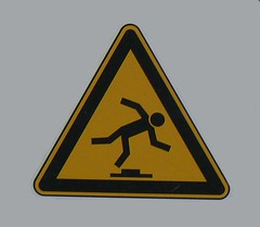 Beware of ground objects sign (phototouring) Tags: signs fall sign danger warning site dangerous construction floor beware objects ground safety falling stickfiguresinperil caution figure stickfigure stickfigures figures hazard alert peril iconography