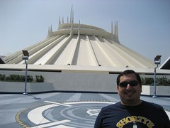 James in front of Space Mountain. (03/25/07)