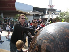 Tim and James play with the Tomorrowland orb. (03/25/07)