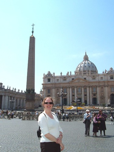 Sue in St. Peter's Square