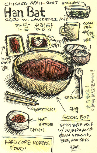 Korean Food Sketchtoon