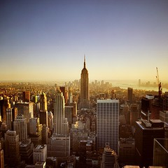 Empire State Building 6:45 pm (T. Scott Carlisle) Tags: nyc sunset newyork 6x6 square tags hasselblad esb empire ccc tsc topofrock flickrphotoaward tphotographic tphotographiccom tscarlisle tscottcarlisle