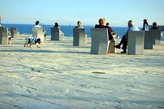Enjoying the evening sun @ Barceloneta (bjaglin) Tags: barcelona beach bench evening spring spain barceloneta espagne barcelone