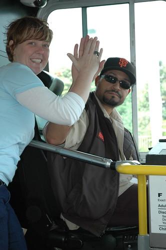 27: hi-five a muni driver