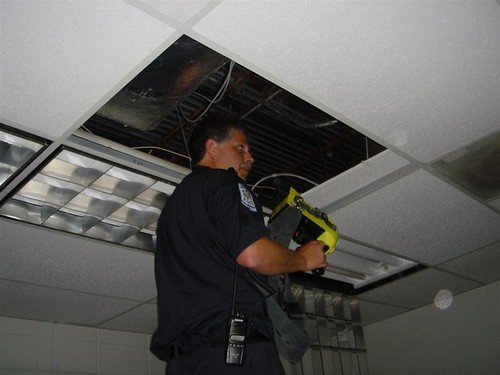 thermal camera in the ceiling