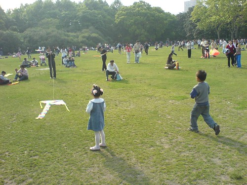 Kite Flying in Zhongshan Park