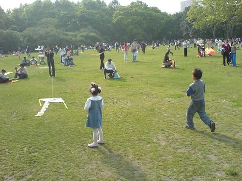 风筝在中山公园飞翔