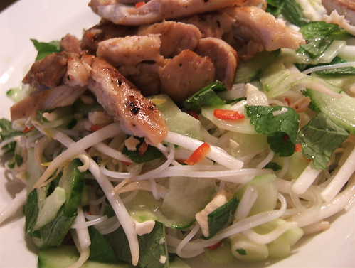 Spicy chicken and noodle salad