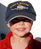 Luke in Jamie's Bigelow hat