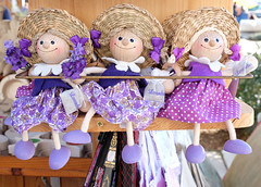 Lavender Dolls (Colorado Sands) Tags: sandraleidholdt europe lavender dolls split shopping souvenir fragrance croatia adriatic hrvatska easterneurope lavenderclothes purple smiling cute happiness