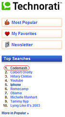 CodeMash hits the #1 spot on Technorati's search!