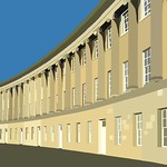 Royal Crescent, Bath in ms paint thumbnail