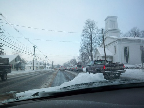 Winters Day 2: Driving to Work - Approaching 4 corners in Penfield