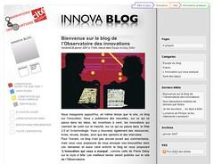 Observatoire des innovations, site et blog pour la Cité des sciences