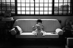 Little Girl by the Window (Matt Madd) Tags: window girl book singapore chinese read littlegirl hdb backlighting